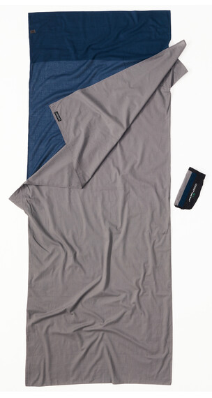 Cocoon TravelSheet Inlet Cotton tuareg/elephant grey